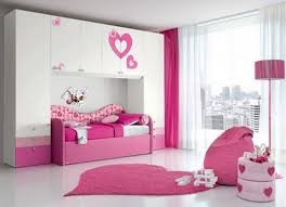 pretty pink and white colors bedroom ideas for teenage girls with