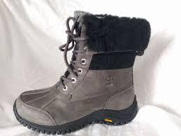 womens work boots australia ugg australia womens 1014387 adirondack boot ii charcoal 7 5 ebay