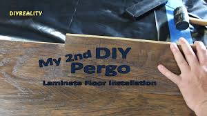 my 2nd diy pergo laminate flooring installation youtube