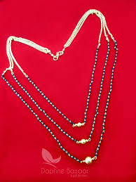 Gift For Wife Ms413 Daphne 3 Line Mangalsutra For Women