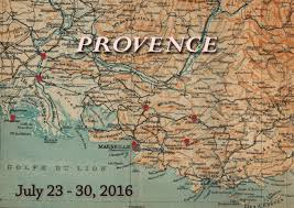Provence Map Mary Magdalene Pilgrimage Itinerary July 23 30 2016