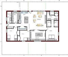 Pole Barn House Plans 40x60 Barndominium Floor Plans Google Search House Plans