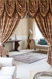 this luxury tab top teardrop swag valance curtain set is flexible