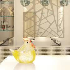 chicken home decor best and cheap glass yellow small chicken glass sculpture home