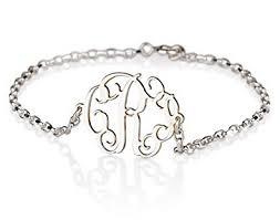 sterling silver monogram bracelet monogram bracelet sterling silver personalized name
