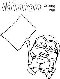 minion paper coloring page wecoloringpage