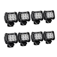 10 Watt Led Light Bar by Amazon Com Nilight Led Light Bar 8pcs 18w 1260lm Spot Led Pods