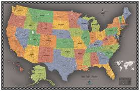 Md Usa Map by Contemporary Usa Wall Map Maps Com