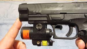 Streamlight Pistol Light Streamlight Tlr 4 Light Laser For Springfield Xdm Youtube