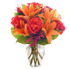 send flower orange roses bouquet at send flowers