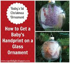 how to get a baby s handprint onto a glass ornament www cupofdelight