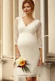 pregnancy a line lace empire waist maternity wedding dress