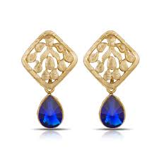 royal blue earrings buy luxor royal blue earrings er 1284 online