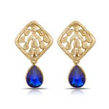 royal blue earrings buy luxor royal blue earrings er 1284 online