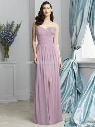 2015 light purple long bridesmaid dress sweetheart full length