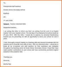9 resignation letter due to retirement resignition letter
