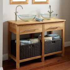 Rustic Bathroom Decor Ideas - furniture for bathroom decoration using maple wood open shelf