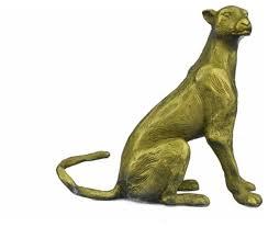 mountain lion statue gilt vienna bronze mountain lion wildlife bronze sculpture