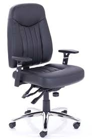 Black Leather Office Chairs Barcelona Black Leather Ergonomic Office Chair