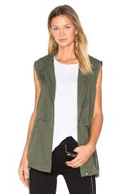 cupcakes and cashmere adison vest in army green revolve