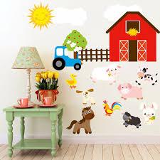 pig decor for home cartoon diy farm animals wall stickers home decoration decor for