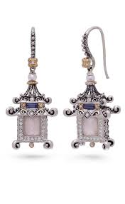 pagoda earrings sacred gem pagoda earrings pink of pearl barbara bixby