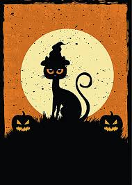 black cat poster background black cat moon
