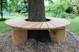 tree bench in oak