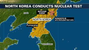 Map Of World Korea by North Korea Claims To Test Hydrogen Bomb U S Others Not So Sure