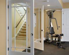 Home Gym Decor Ideas Finished Basement Workout Room Ideas Photos Design Pictures