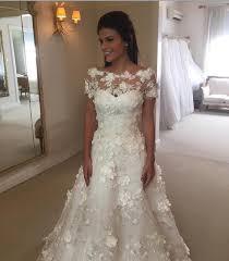illusion neckline wedding dress shop 2017 hos sale 3 d floral wedding dresses sleeve