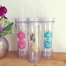 bridesmaid cups pineapple monogram tumbler tumbler bridesmaid gifts