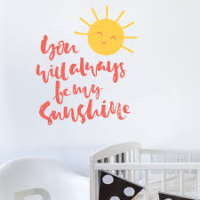 you are my sunshine wall sticker uk interior decor home vintage