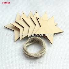 70mm unfinished cutouts plywood star wooden crafts christmas tree