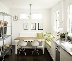 small kitchen and dining room ideas smart small kitchen design with metal countertop wooden dining table