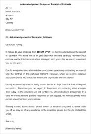Acknowledgement Letter Request acknowledge receipt letter acknowledgement letter templates free