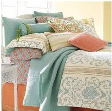 Coral Colored Comforters 46 Best Coral U0026 Blue Color Scheme Images On Pinterest