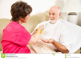 Home Nurse by Home Nursing Take Medicine Stock Photography Image 15478322