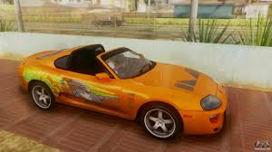 toyota supra side view toyota supra trd 1998 for gta san andreas