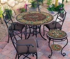 Mosaic Patio Furniture Beautiful Mosaic Tables In Pittsburgh The Fireplace And Patioplace