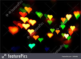 Colored Christmas Lights by Picture Of Heart Shape Bright Lights
