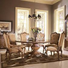 whitesburg 5 piece round dining table set in brown white splendid