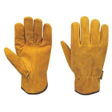 Split Cowhide Stanley Split Cowhide Leather Driver Gloves Brown Large