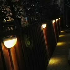 waterproof outdoor sensor lighting solar powered 6 led lights