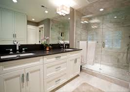 black granite top over white bathroom vanity house to home