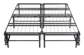 kings brand queen size metal bi fold folding platform bed frame