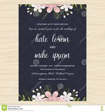 Marriage Invitation Card Templates Free Download Wedding Invitation Card Template Decorate With Flower Floral