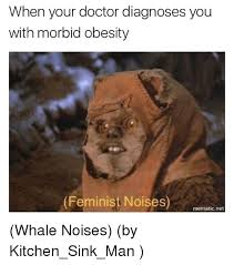 Morbid Memes - when your doctor diagnoses you with morbid obesity feminist noises