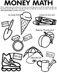 math pages to print out money math coloring page crayola