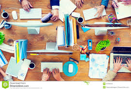 Work Office Desk Of Business Working On An Office Desk Stock Image